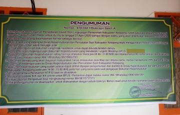 Disdukcapil Kabupaten Ketapang melakukan pembatasan pelayanan